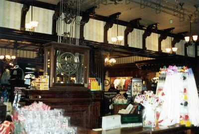 Counter with station at Disneyland Emporium