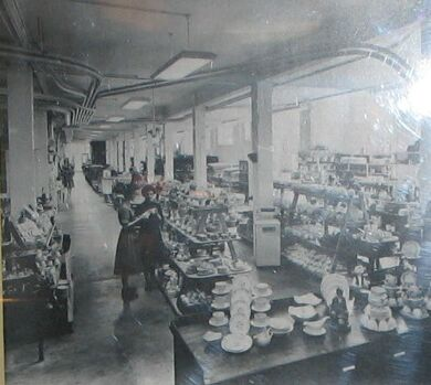 Crockery department in 1950s