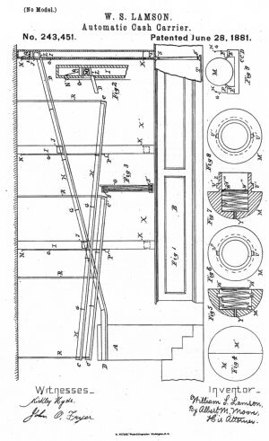 Diagram from Lamson's patent no. 243451